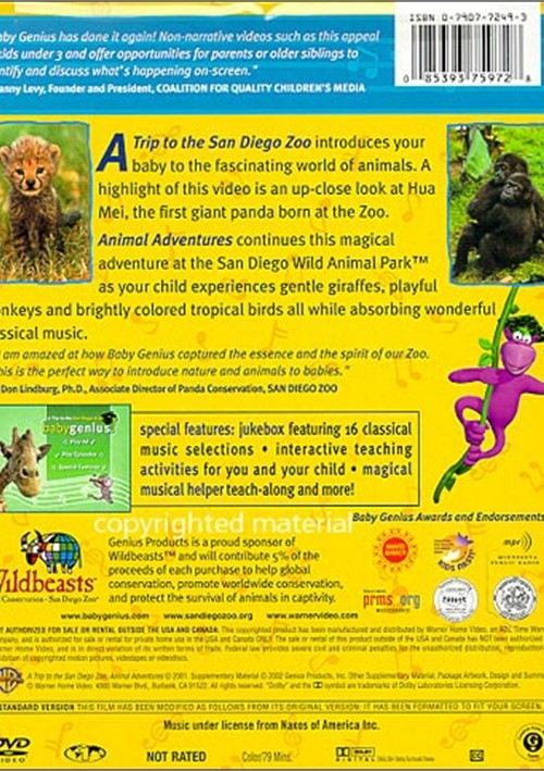 Pin Baby Genius A Trip To The San Diego Zoo Animal