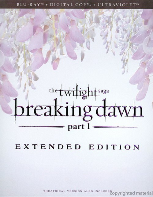 Twilight Saga, The: Breaking Dawn - Part 1 - Extended Edition (Blu-ray + Digital Copy + UltraViolet) Blu-ray