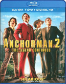 Anchorman 2: The Legend Continues (Blu-ray + DVD + UltraViolet) Blu-ray