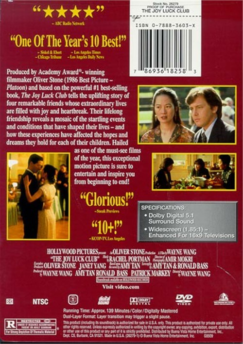 """joy luck club belonging """"the joy luck club creates such a powerful sense of its older women's suffering, and presents such brutalizing events in several of their lives, that its impact achieves a welcome degree of universality,"""" reads the glowing 1993 review from the new york times."""