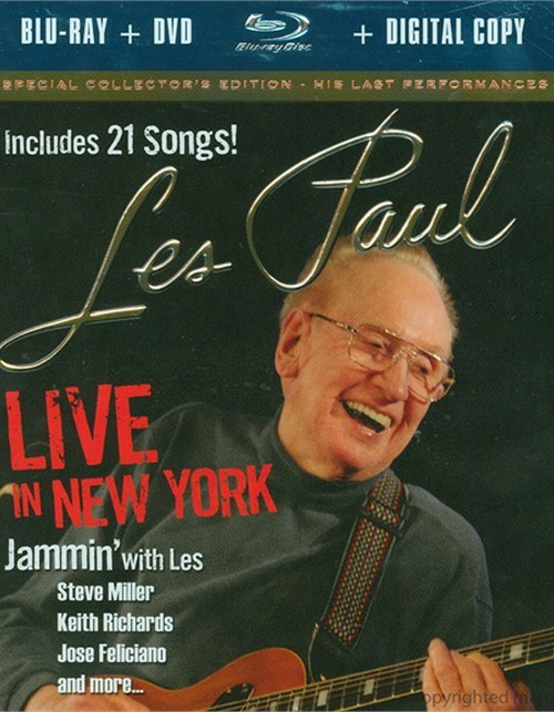Les Paul Live In New York (Blu-ray + DVD + Digital Copy) Blu-ray