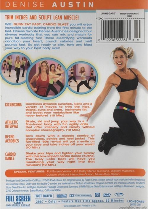 Denise Austin: Burn Fat Fast Cardio Blast (DVD) | DVD Empire