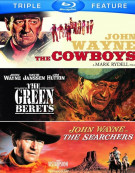 Cowboys, The / The Green Berets / The Searchers (Triple Feature) Blu-ray