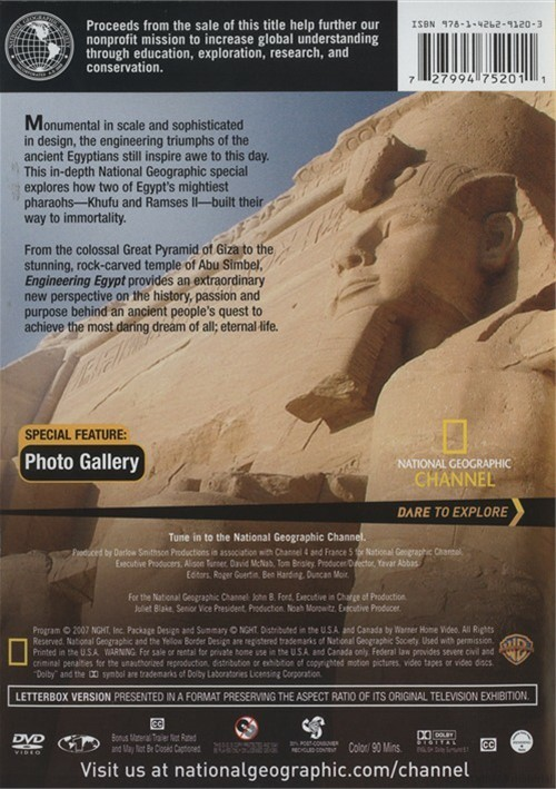 National Geographic: Engineering Egypt (DVD 2007) | DVD Empire