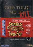 Snakes & Sinners Two-Fer: God Told Me To / Venom (2 Pack) Movie
