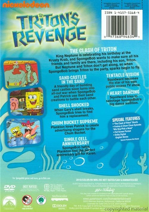 spongebob squarepants tritons revenge dvd 2010 dvd