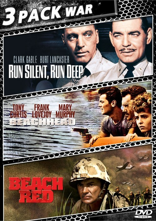 Run Silent, Run Deep / Beachhead / Beach Red (Triple Feature) Movie