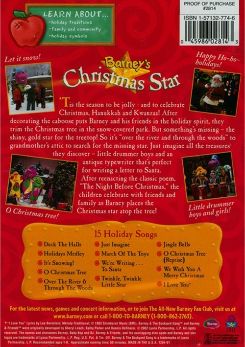 Barney A Very Merry Christmas The Movie Dvd.Barney Christmas Star Dvd Palace Resorts Reservations