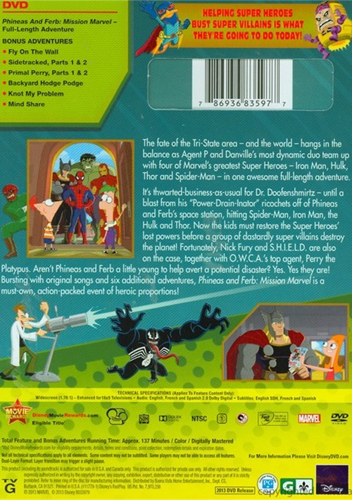 Phineas And Ferb: Mission Marvel (DVD) | DVD Empire