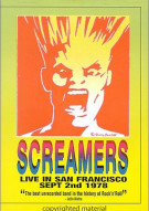 Screamers: Live In San Francisco - September 2nd, 1978 Movie