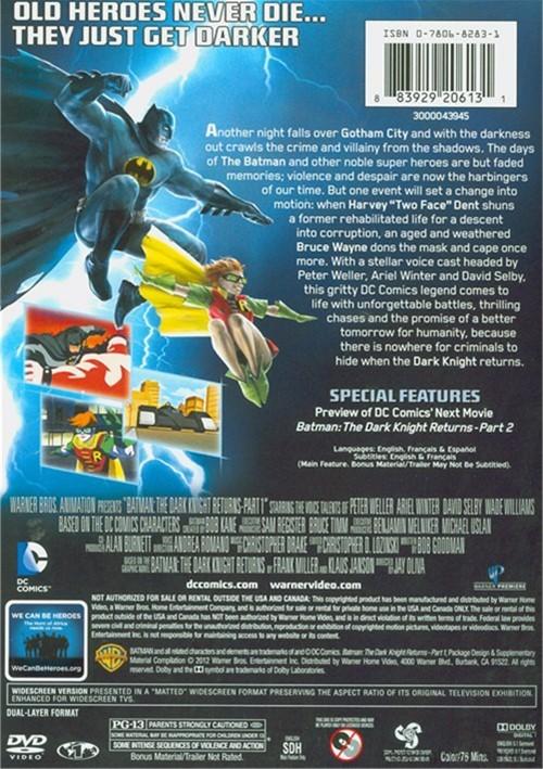 Batman: The Dark Knight Returns DC Comics Part 1 and Part ...