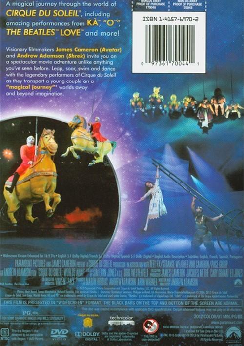 Cirque Du Soleil Dvd: Cirque Du Soleil: Worlds Away (DVD 2012)