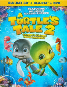 Turtles Tale 2, A: Sammys Escape From Paradise 3D (Blu-ray 3D + Blu-ray + DVD) Blu-ray