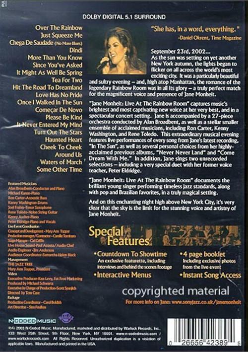 Jane Monheit Live At The Rainbow Room Dvd 2003 Dvd Empire