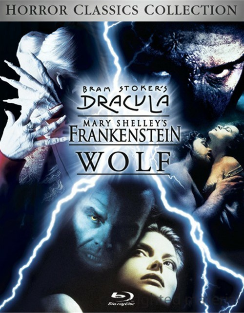 Horror Classics Collection: Bram Stokers Dracula / Mary Shelleys Frankenstein / Wolf Blu-ray