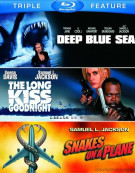 Deep Blue Sea / The Long Kiss Goodnight / Snakes On A Plane (Triple Feature) Blu-ray