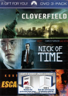 Cloverfield / Nick Of Time / Escape From L.A. (3 Pack) Movie