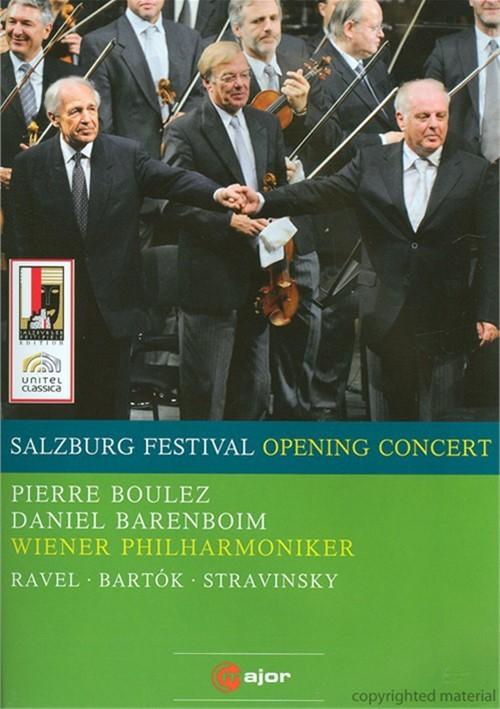 Salzburg Opening Concert: Barenboim; Boulez; Vienna Philharmonic Orchestra Movie