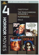 Childs Play / Dolls / Pumpkinhead / The Texas Chainsaw Massacre 2 (4 Horror Movies) Movie