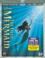 Little Mermaid 3D, The: Diamond Edition (Blu-ray 3D + Blu-ray + DVD + Digital Copy) Blu-ray
