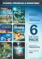 6 Movie Pack: Sharks, Piranhas and Monsters Movie