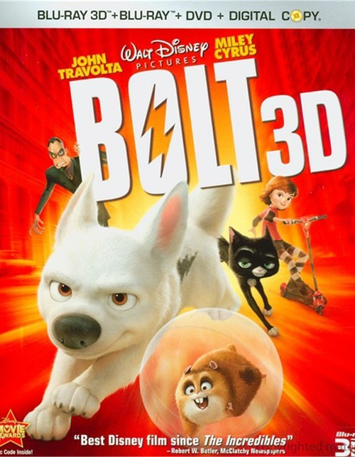 Bolt 3D (Blu-ray 3D + Blu-ray + DVD + Digital Copy) Blu-ray