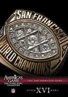 NFL Americas Game: 1981 San Francisco 49ers Super Bowl XVI Movie