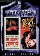 Crypt Of Terror Double Feature: Night Of The Bloody Apes / Curse Of The Doll People Movie