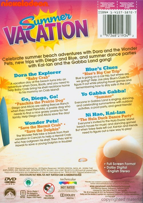Nickelodeon Favorites: Summer Vacation (DVD 2011)