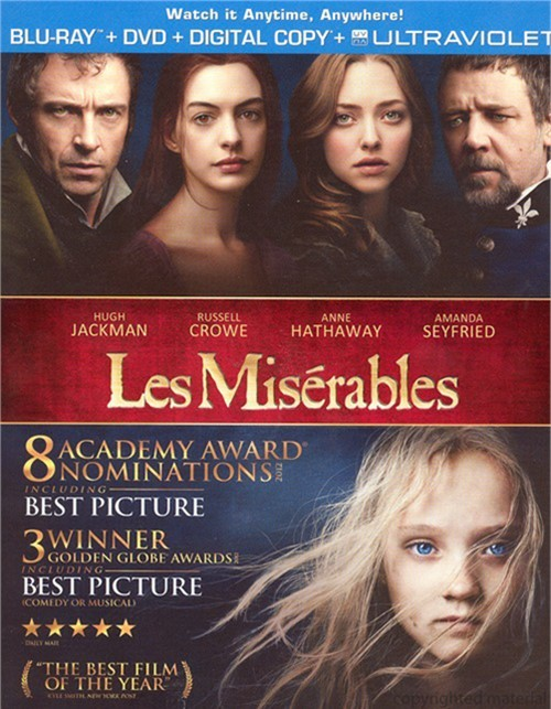 Les Miserables (Blu-ray + DVD + Digital Copy + UltraViolet) Blu-ray