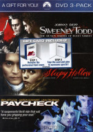 Sweeney Todd / Paycheck /y Hollow (3 Pack) Movie