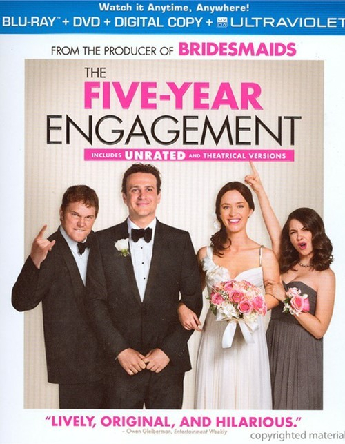 Five-Year Engagement, The (Blu-ray + DVD + Digital Copy + UltraViolet) Blu-ray