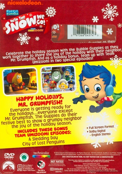 Backyardigans Sunny Day : Bubble Guppies  Team Umizoomi Into The Snow We Go (DVD)  DVD Empire
