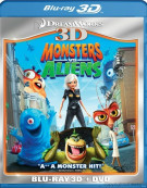 Monsters Vs. Aliens 3D (Blu-ray 3D + DVD Combo) Blu-ray