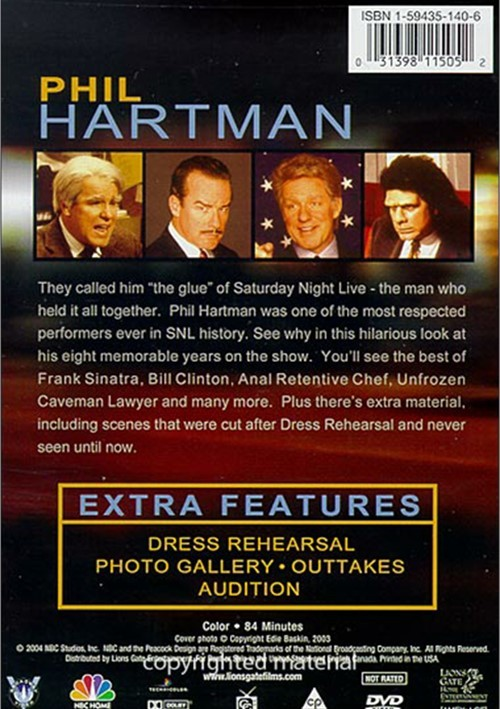 Saturday Night Live: The Best Of Phil Hartman (DVD 2004 ...