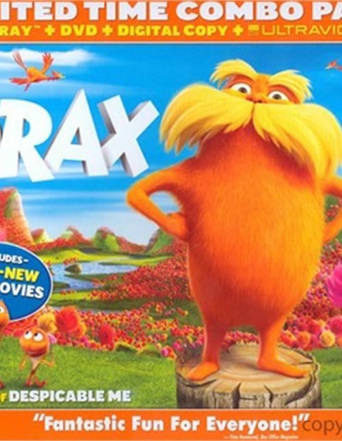 Dr. Seuss The Lorax (DVD + Blu-ray + Digital Copy + UltraViolet) Blu-ray