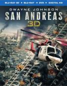 San Andreas (Blu-ray 3D + Blu-ray + DVD + UltraViolet) Blu-ray