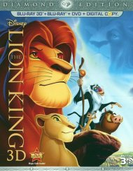 Lion King 3D, The: Diamond Edition (Blu-ray 3D + Blu-ray + DVD + Digital Copy) Blu-ray