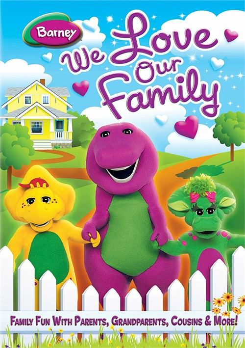 Barney: We Love Our Family (Valentines Day Faceplate + Cards +DVD) Movie