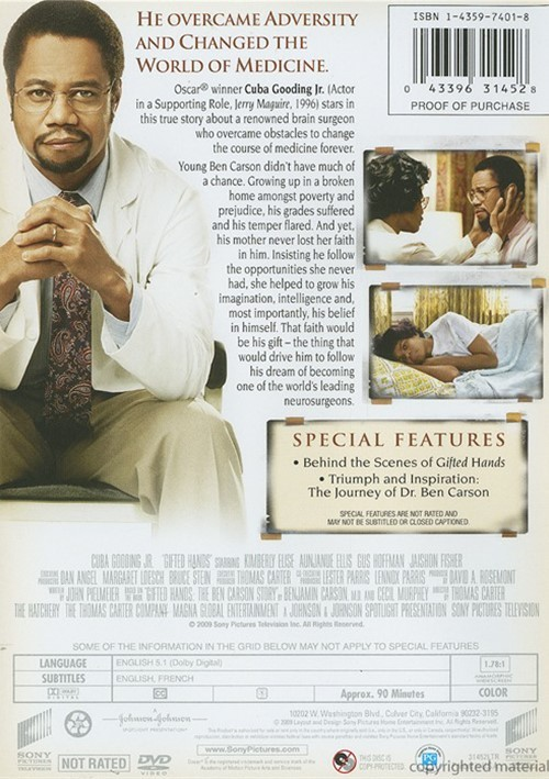 essay movie gifted hands Gifted hands: the ben carson story (2009) is also the name of a made-for-television movie version of the memoir, tracing his life from 1961 until 1987 the book begins when carson was eight years old, during the divorce of his mother and father.