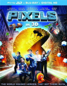 Pixels (Blu-ray 3D + Blu-ray + DVD + UltraViolet) Blu-ray
