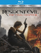 Resident Evil: The Final Chapter  (4K Ultra HD + Blu-ray + UltraViolet)  Blu-ray
