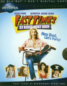 Fast Times At Ridgemont High (Blu-ray + DVD + Digital Copy) Blu-ray