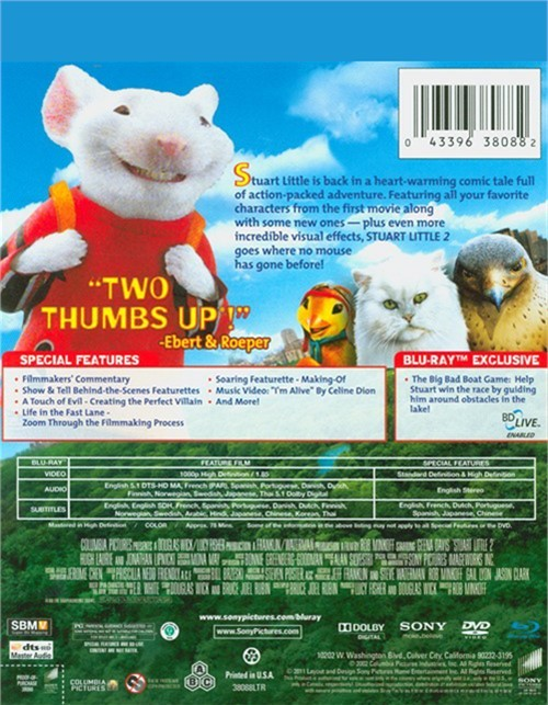 Stuart little 2 2002 dvd