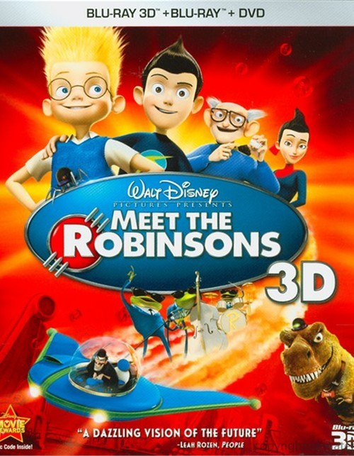 Meet The Robinsons 3D (Blu-ray 3D + Blu-ray + DVD) Blu-ray