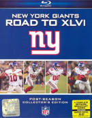 NFL New York Giants: Road To Super Bowl XLVI Blu-ray