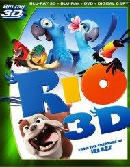 Rio 3D (Blu-ray 3D + Blu-ray + DVD + Digital Copy) Blu-ray