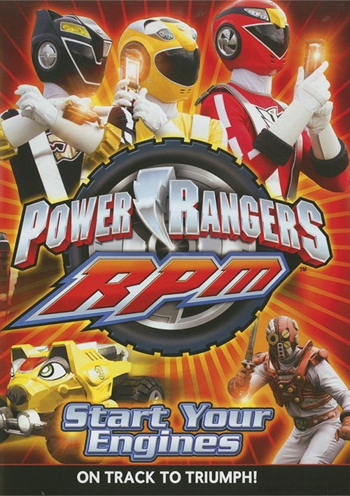 power rangers rpm start your engines dvd dvd empire. Black Bedroom Furniture Sets. Home Design Ideas