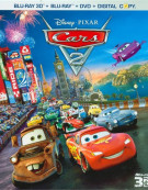 Cars 2 (Blu-ray 3D + Blu-ray + DVD + Digital Copy) Blu-ray