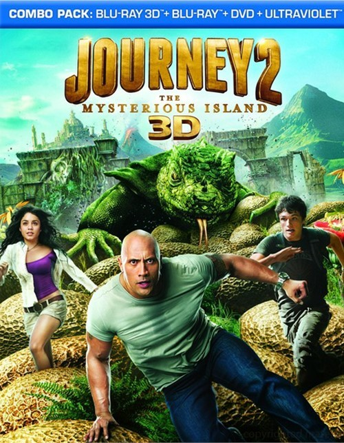 Journey 2: The Mysterious Island 3D (Blu-ray 3D + Blu-ray + DVD + UltraViolet) Blu-ray